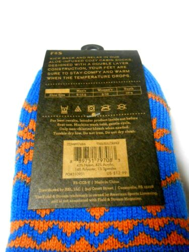 UPick NEW 1 Pair of Cozy Cabin Socks Aloe Infused Youth One Size Field /& Stream