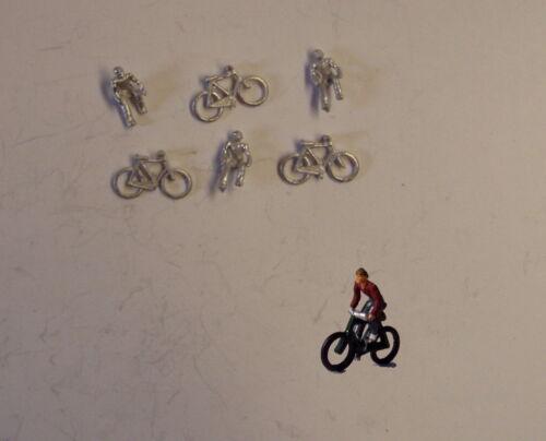 castings require painting P/&D Marsh N Gauge n Scale B67 Men riding bikes 3