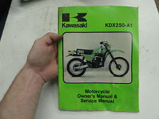 kawasaki kdx125 kdx 125 a1 b1 owners user manual very rare pt no rh ebay co uk kawasaki kx250 service manual kawasaki kx 250 f 2009 service manual