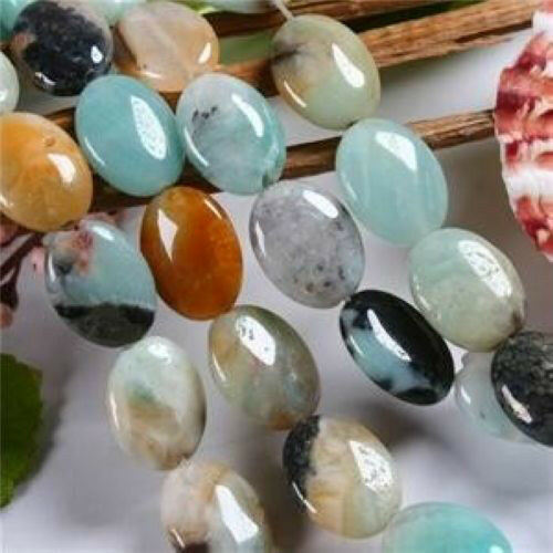 """13X18mm Natural amazonite gemstone oval loose beads 15"""" AAA"""
