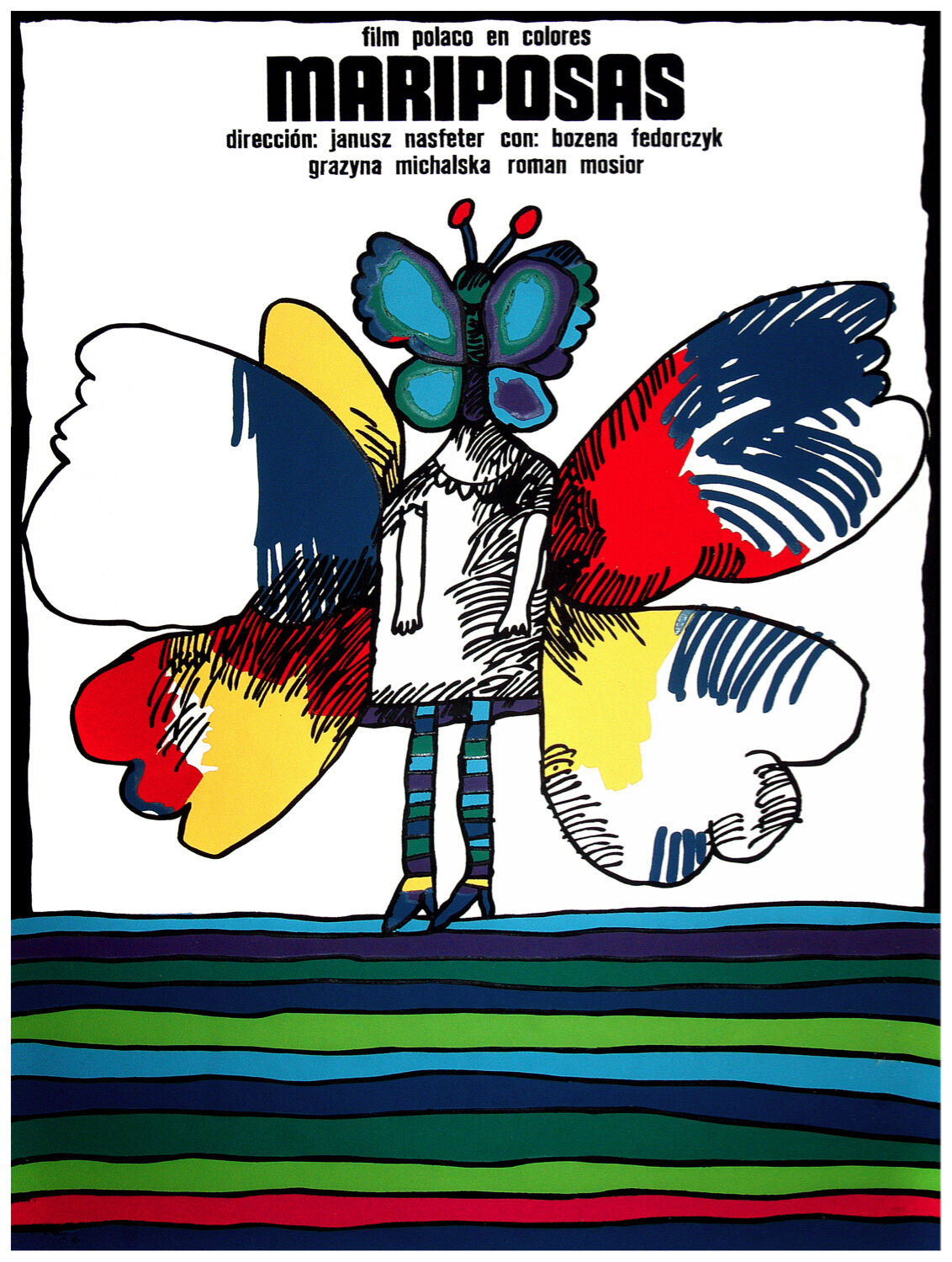 98.Art Decoration POSTER.Graphics to decorate home office. Butterflies Polish.