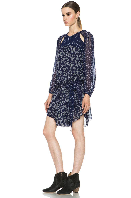 NWOT Isabel Marant Etoile Prewitt Dress SZ 40  Printed blueE Floral