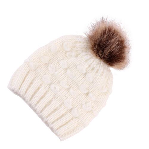 Portable Winter Warm Crochet Knit Hat Beanie Cap For Toddler Kids Girls Boy Baby