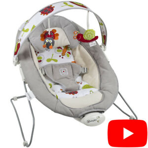 Babywippe-Schaukelwippe-Baby-Wippe-Vibration-Babywiege-Bouncer-BabyGo-COZY-Grau