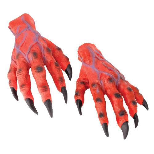 Rouge Horreur Mains Démon Monstre Démon Déguisement Halloween Accessoire Adultes Homme