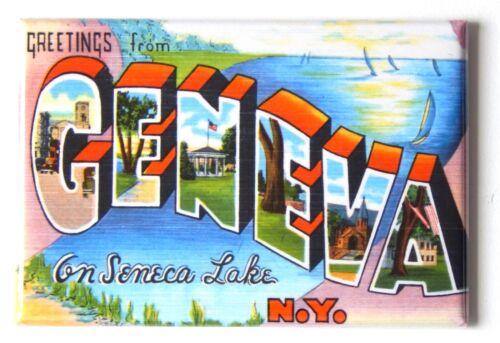 Greetings from Geneva New York FRIDGE MAGNET travel souvenir seneca lake