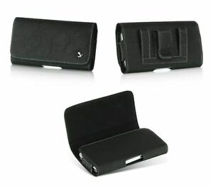 Black-Leather-Belt-Clip-Horizontal-Holster-Pouch-Case-for-Apple-iPhone-5-5C-5S