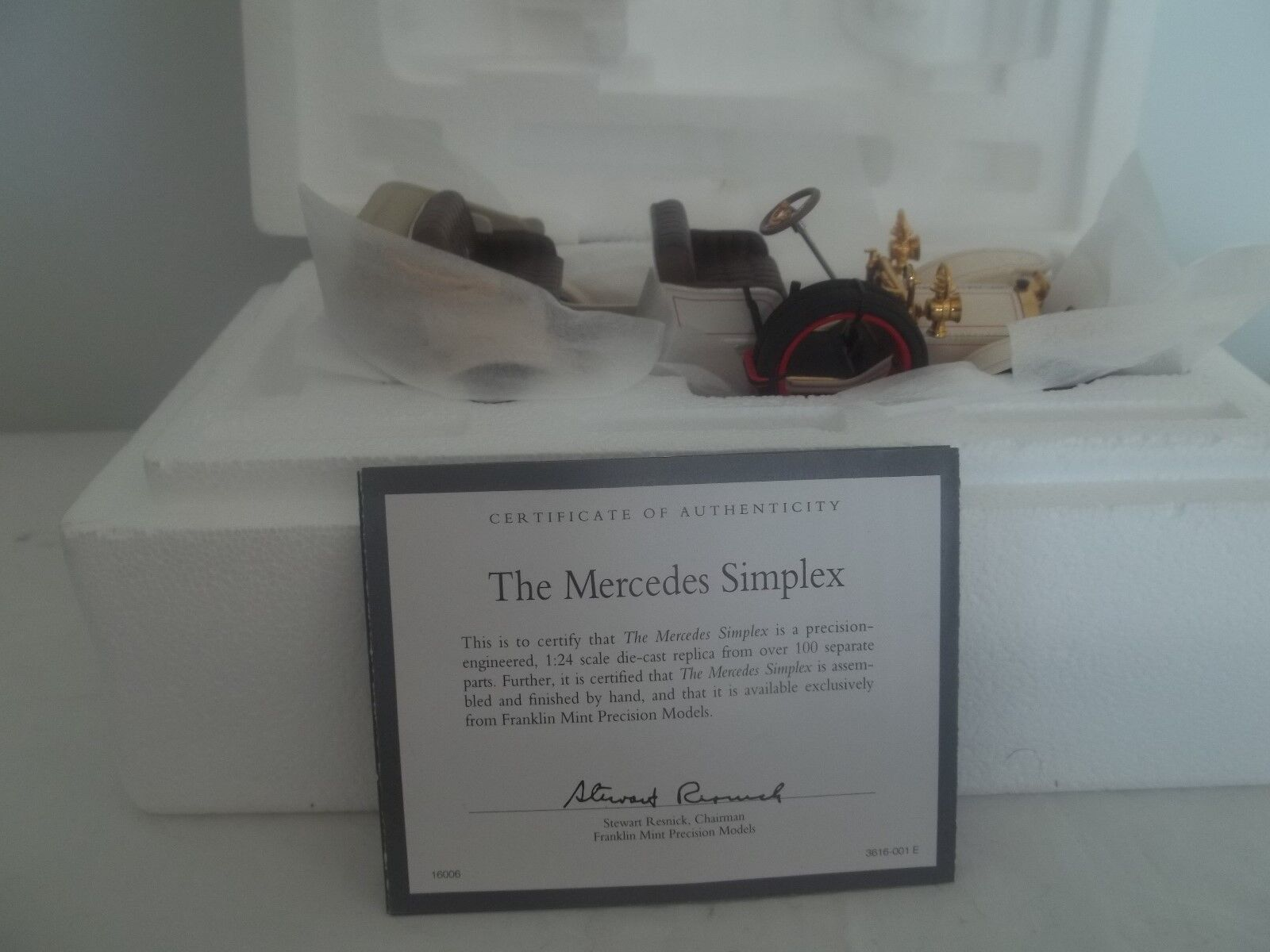 Franklin Mint Mercedes Benz Simplex 1904 1 24 Mint & Boxed