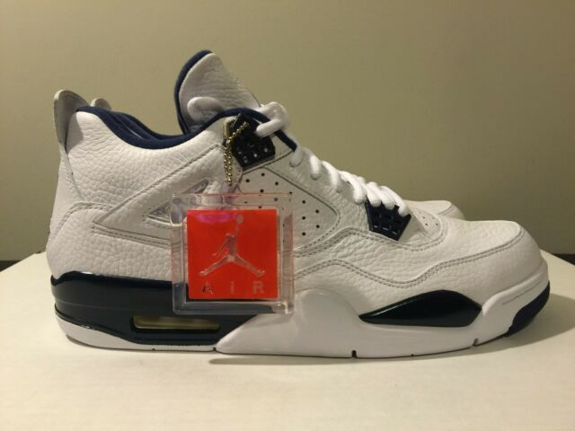 separation shoes cb684 100dc Nike Air Jordan 4 Retro Columbia Legend Blue Size 11.5 New In Box 314254 107
