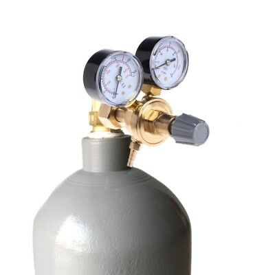 Metal Argon Pressure Reducer Mig Tig Flow Control Gas Regulator Gauge Welding