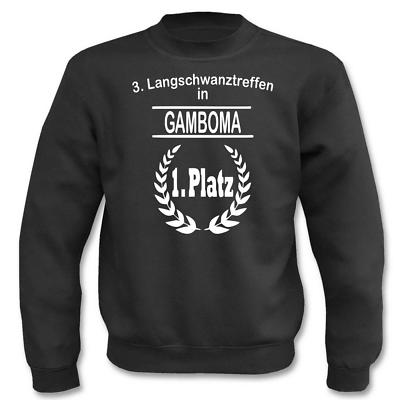 Gastfreundlich Pullover 3. Langschwanztreffen In Gamboma I Fun I Sprüche I Lustig I Sweatshirt Dinge Bequem Machen FüR Kunden