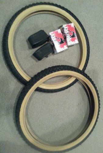 DURO 20X1.75 BMX BICYCLE TIRES BLACK GUMWALLS  /& 2 TUBES COMP 3 TYPE 2 TWO