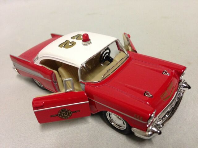 1957 Chevrolet Bel Air Fire Chief 5 Diecast Pull Back Action 1 40
