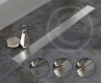 Duschrinne Edelstahl Boden/ablauf/rinne Befliesbare Duschablaufrinne Flach 97mm