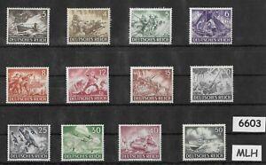 Mint MLH  Third Reich Germany stamp set 1943 Military Hero's Wehrmacht Luftwaffe