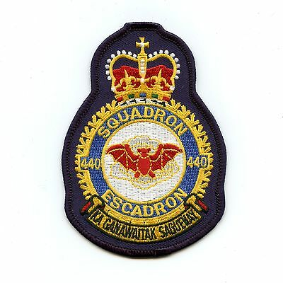 RCAF CAF Canadian 440 Squadron Heraldic Colour Crest Patch ...