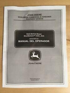 john deere operator s manual omgx23070 c js25 js35 mowers rh ebay com John Deere JS25 Spring Placement John Deere JS25 Engine