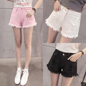 664dd01e2 Korean Women Denim High Waist Shorts Wide Leg Trousers Casual Pants ...