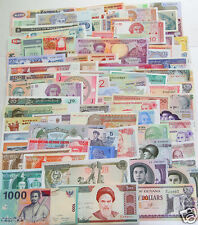 102 Different world Paper Money, UNC Genuine Banknote from about 30 countries!