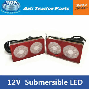 2xArk-LED-Submersible-Trailer-Lamps-Light-8m-Cable-12V-LD158
