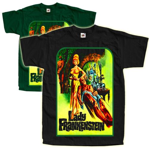 LADY FRANKENSTEIN V4 Movie Poster T SHIRT Black Green ALL SIZES S-5XL