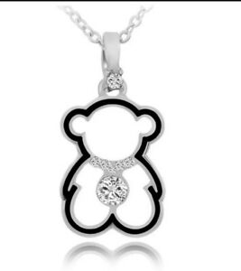 Kette-Baer-Damen-Halskette-Necklace-Silver-Silber-Teddy-Teddybaer-Nette-Anhaenger