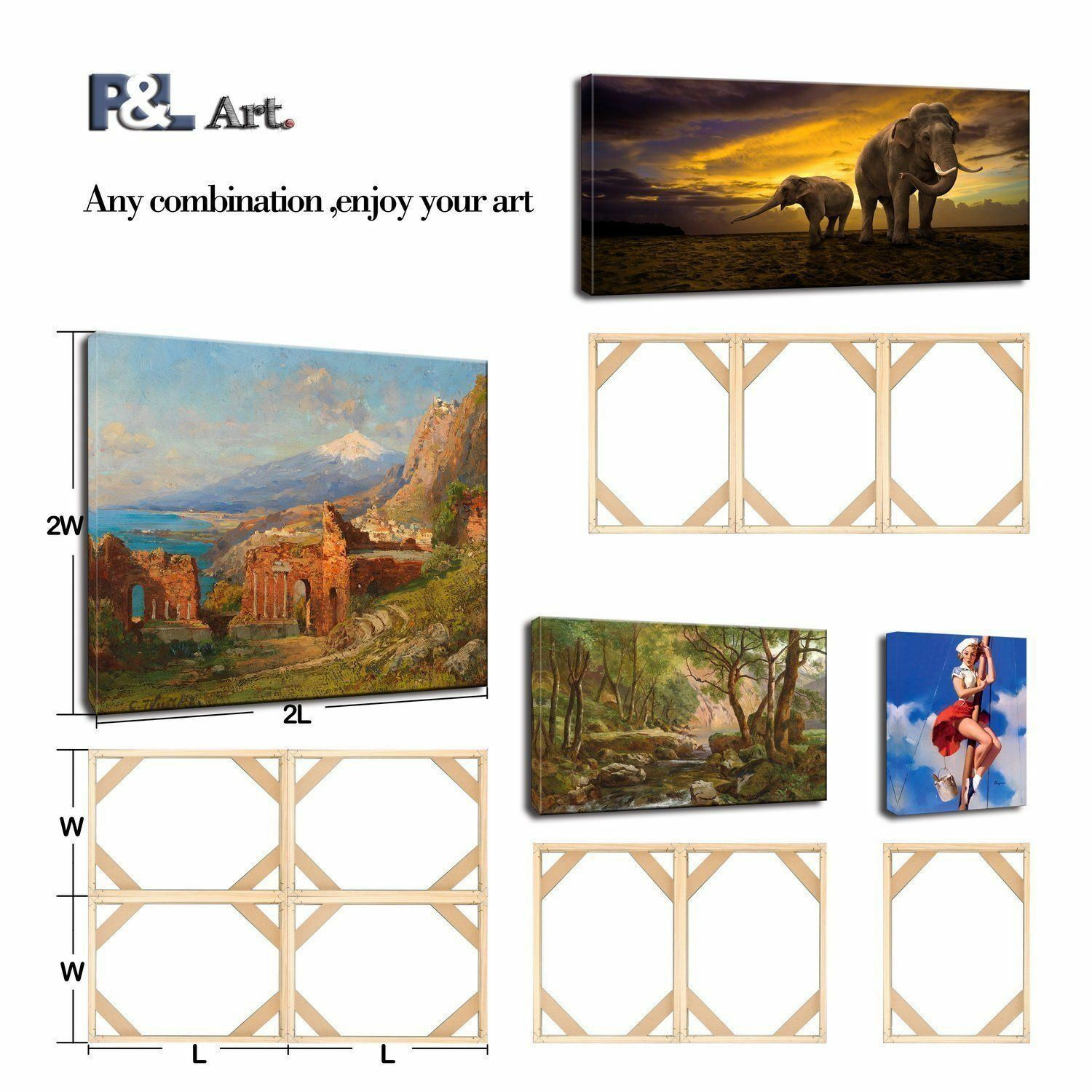 Modern Life Accessory,8x20//20x50cm Canvas Wood Stretcher Bars Painting Wooden Frames for Gallery Wrap Oil Painting Posters