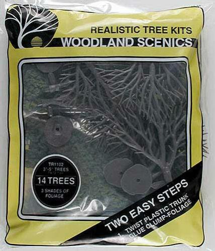 """Train Scenery Woodland Scenics TR1102 N//HO Tree Kits 3//5/"""" 14"""