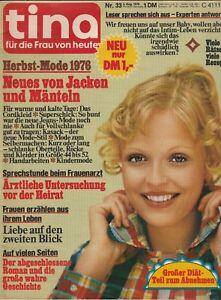 Zeitschrift - Tina für die Frau von heute Nr.33/05.08.1976