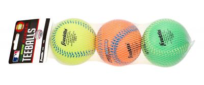 3er Pack Ballsport Ball Franklin Teeball Probrite Rubber Baseballbälle