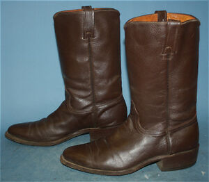 c6a5ba2b1f0 Details about MENS VINTAGE ACME BROWN LEATHER ROCKABILLY/FLAT TOP  WESTERN/COWBOY BOOTS sz 8 D