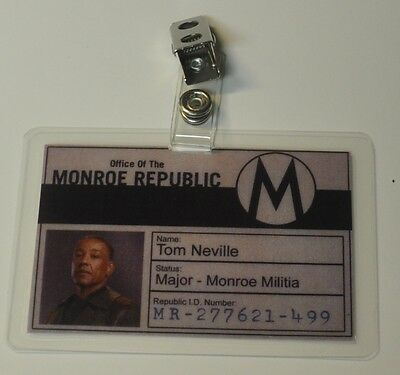 Revolution TV Series ID Badge-Monroe Republic Tom Neville Major