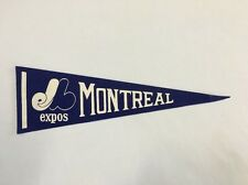 "Vintage Montreal Expos Felt Pennant 15"" MLB Baseball Collectible Flag"