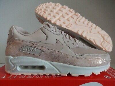 10 Women's Nike Air Max 90 PRM Particle Beige Shine Glitter Bronze 896497 201