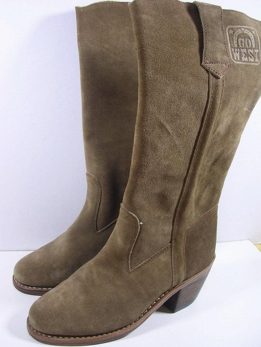 Grandes zapatos con descuento BOTTES GO WEST CUIR TAILLE 37 ANCIENNE VERS 1970/80