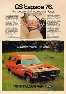 1976 FORD FALCON XB PANEL VAN A3 POSTER AD SALES BROCHURE ADVERTISEMENT ADVERT