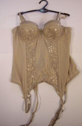 Next Soft Mink Sequin Embellished Satin Basque Size 34A BNWOT rrp £30