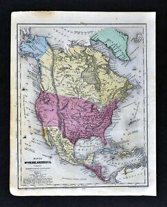 1844-Smith-Map-North-America-United-States-Texas-Mexico-Canada-Alaska-Cuba