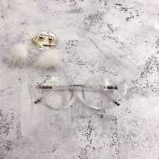 Transparent Round Oversized Geek Nerd Retro Vintage Clear Lens Glasses 60s 80s