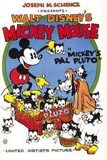 Mickey Mouse Pal Pluto Disney cartoon poster print #A34
