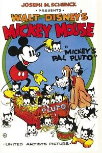 Mickey-Mouse-Pal-Pluto-Disney-cartoon-poster-print-A34