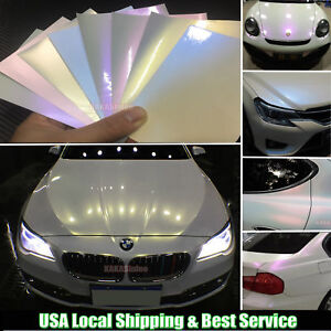 Pearl White Car Paint.Details About Bubbles Free Stretch Car Glossy Matte Pearl White Magic Vinyl Wrap Sticker Abus
