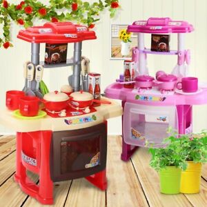 Image Is Loading Kids Children 039 S Kitchen Play Set Pink