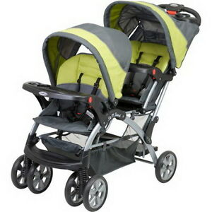 Twins Baby Double Stroller Uses 2 Car Seats Baby Trend Travel System ...