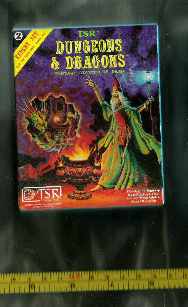 TSR D&D MINIATURE 25TH ANN REPRINT 1 7th SIZED blueE EXPERT BOXED SET 2 VGC 1012
