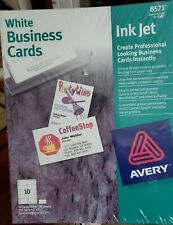 Ink Jet 350 White Business Cards Avery 2 X 3 12 8571 New In Sealed Package