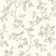 LIVE LAUGH LOVE BIRDS WALLPAPER - CREAM & GOLD - FD40290 - FINE DECOR