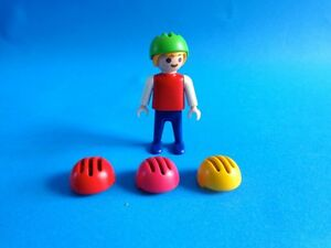 Playmobil-4-x-casco-nino-amarillo-verde-rojo-rosa-se-vende-sin-nino