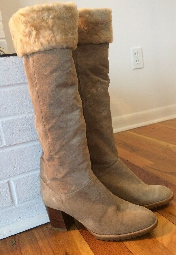 Pertti Palmroth For J. Miller Tan Leather Suede Boots Women's Size 7 1/2 Narrow