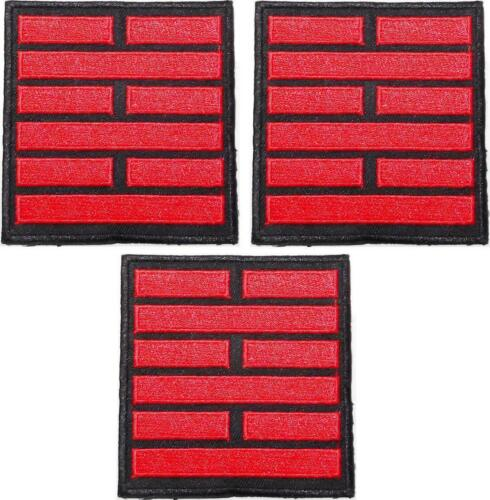 GI Joe Snake Eyes Black Red Embroidered Iron on Patch Set of 3